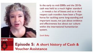 Sarah Bailey cash is a Trojan horse for other issues in the humanitarian sector