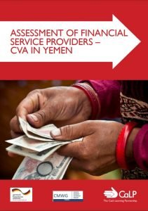 Assessment Of Financial Service Providers – CVA In Yemen. Front cover.
