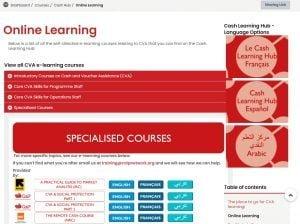 screenshot cash learning hub on Kaya